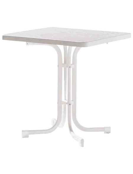 SIEGER Gartentisch, mit Mecalit-pro-Tischplatte, BxTxH: 70 x 70 x 72 cm