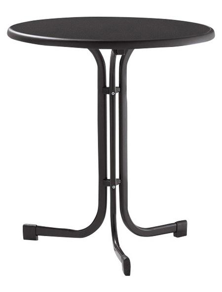 SIEGER Gartentisch, mit Mecalit®-pro-Tischplatte, Ø 70 cm