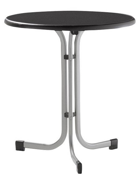 SIEGER Gartentisch mit Mecalit®-pro-Tischplatte, Ø 70 cm
