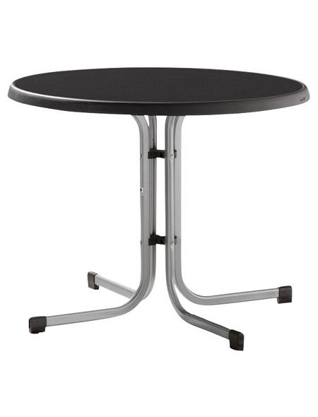 SIEGER Gartentisch mit Mecalit®-pro-Tischplatte, Ø 86 cm
