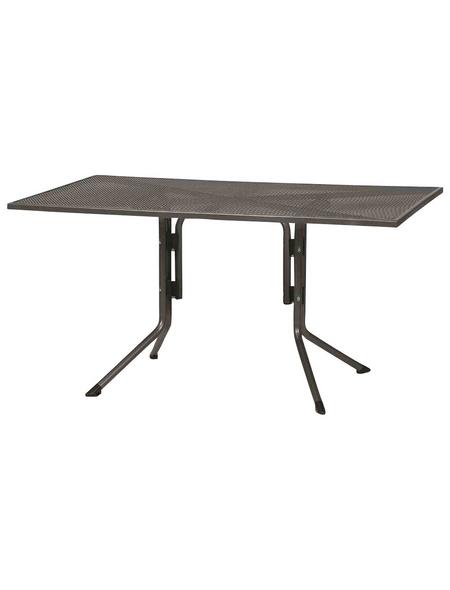 SIENA GARDEN Gartentisch, mit Metall-Tischplatte, B x L x H: 90 x 140 x 71 cm