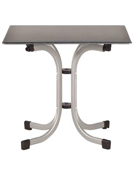 SIENA GARDEN Gartentisch mit Topalit®-Tischplatte, BxLxH: 80 x 80 x 71 cm