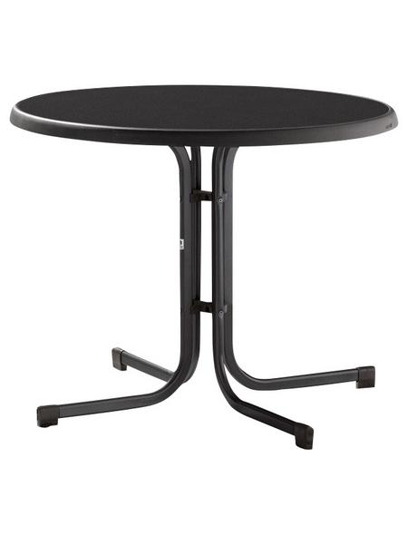 SIEGER Gartentisch mit Verbundwerkstoff-Tischplatte, Ø 86 cm
