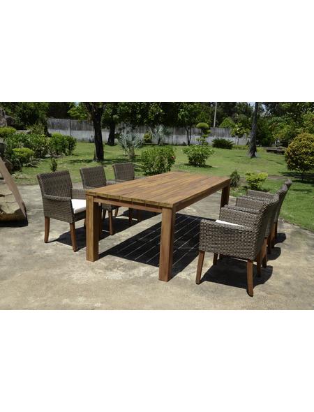 GARDEN PLEASURE Gartentisch »Pala«, mit Akazienholz-Tischplatte, BxTxH: 220 x 100 x 78 cm