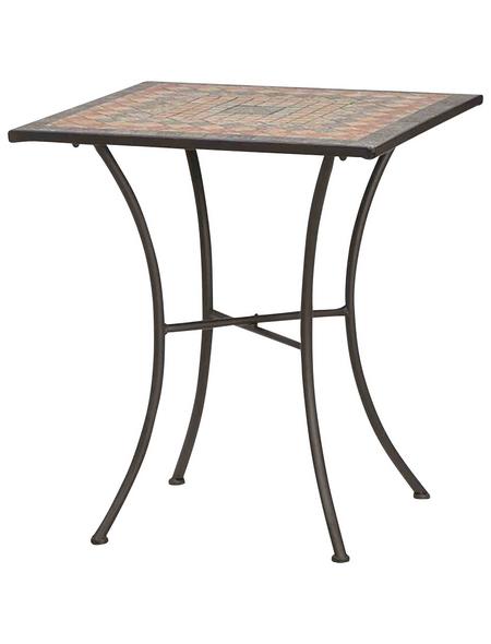 SIENA GARDEN Gartentisch »Prato« mit Keramik-Tischplatte, BxLxH: 64 x 64 x 71 cm