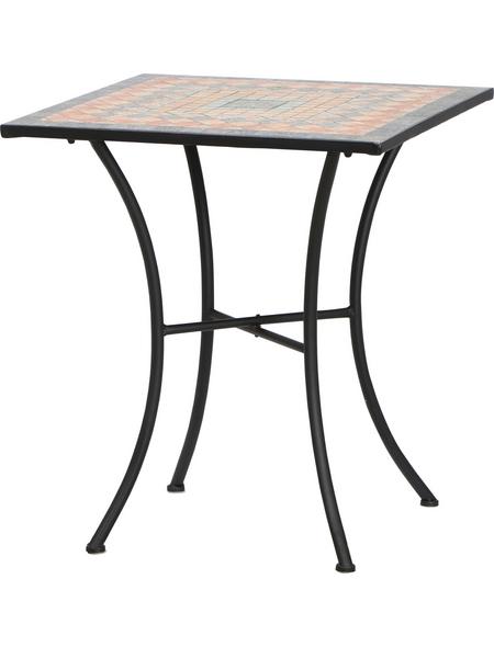 SIENA GARDEN Gartentisch »Prato«, mit Stahl-Tischplatte, BxTxH: 64 x 64 x 71 cm