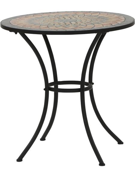 SIENA GARDEN Gartentisch »Prato«, mit Stahl-Tischplatte, ØxH: 70 x 71 cm