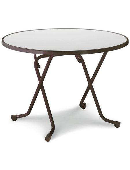BEST Gartentisch »Primo«, mit Alcolit-Tischplatte, BxTxH: 100x100x70 cm