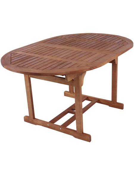 GARDEN PLEASURE Gartentisch »Sapa«, mit Holz-Tischplatte, BxTxH: 150 x 100 x 74 cm