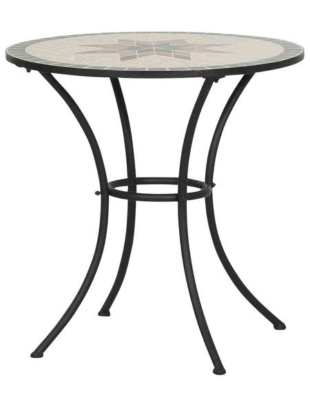 SIENA GARDEN Gartentisch »Stella«, mit Keramik-Tischplatte, Ø x H: 70 x 71 cm