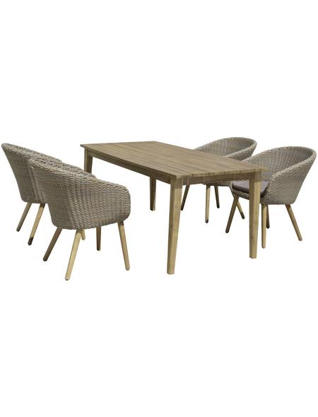 GARDEN PLEASURE Gartentisch »Visalia«, mit Akazienholz-Tischplatte, BxTxH: 180 x 90 x 75 cm