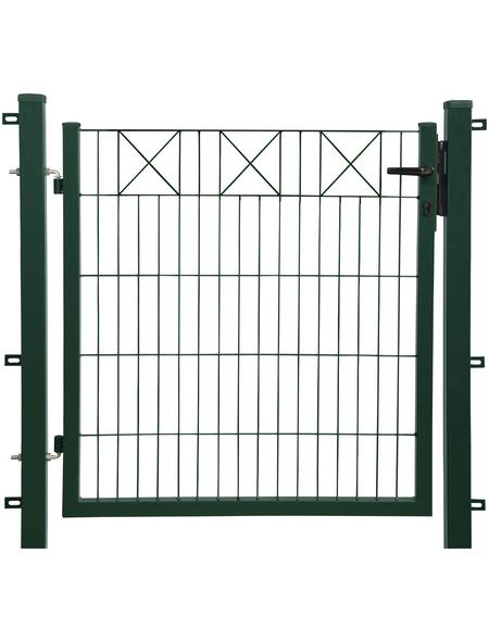 FLORAWORLD Gartentor, HxL: 100 x 100 cm, Stahl, grün