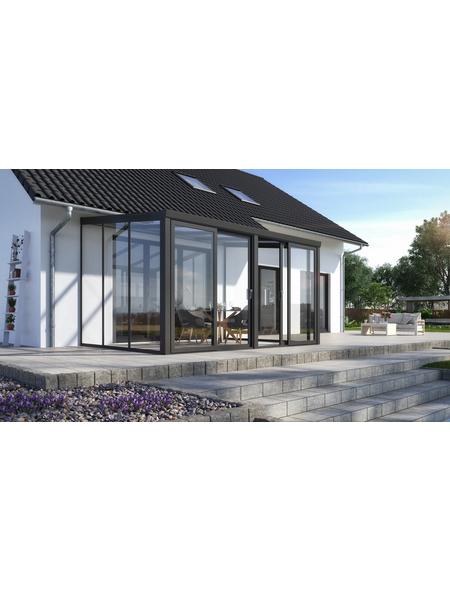 GARDENDREAMS Gartenzimmer »Legend«, BxT: 300 x 300 cm mit Glasdach