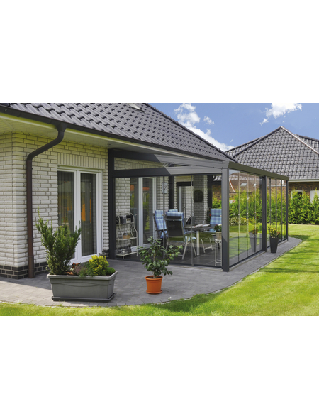 GARDENDREAMS Gartenzimmer »Legend«, BxT: 400 x 250 cm mit Glasdach