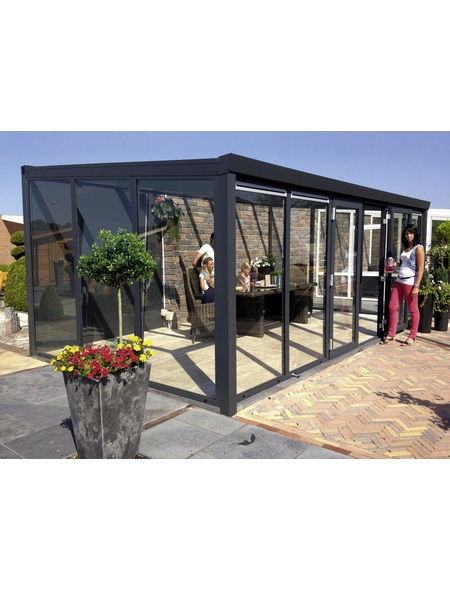 GARDENDREAMS Gartenzimmer »Legend«, BxT: 400 x 350 cm mit Glasdach