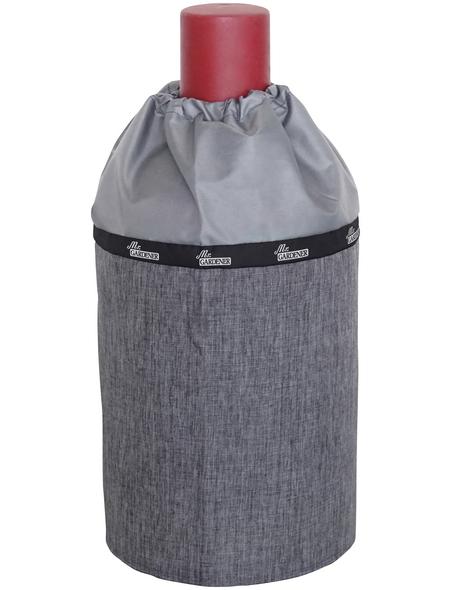 MR. GARDENER Gasflaschen-Abdeckhaube für handelsübliche 11 kg Gasflaschen, schwarzgrau