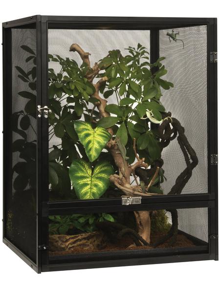 EXO TERRA Gaze Terrarium, Screen Terrarium, 45 x 45 x 60 cm, 1x Substratwanne enthalten