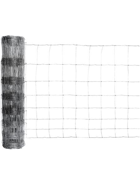 FLORAWORLD Geflechtzaun, HxL: 100 x 5000 cm, silberfarben