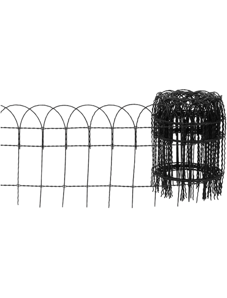 FLORAWORLD Geflechtzaun, HxL: 40 x 1000 cm, anthrazit