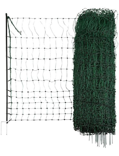KERBL Geflügelnetz, Höhe: 90 cm, Länge: 50m, Kunststoff, grün