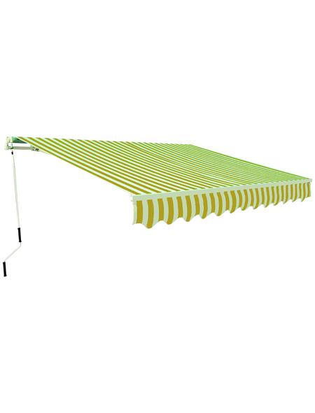 GO/ON! Gelenkarmmarkise, BxT: 300 x 200 cm, gelb/weiss gestreift