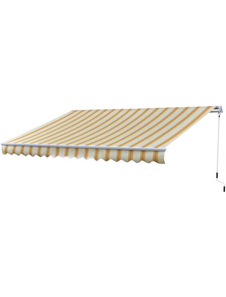 GO/ON! Gelenkarmmarkise, BxT: 400 x 250 cm, zitronengelb/orange gestreift