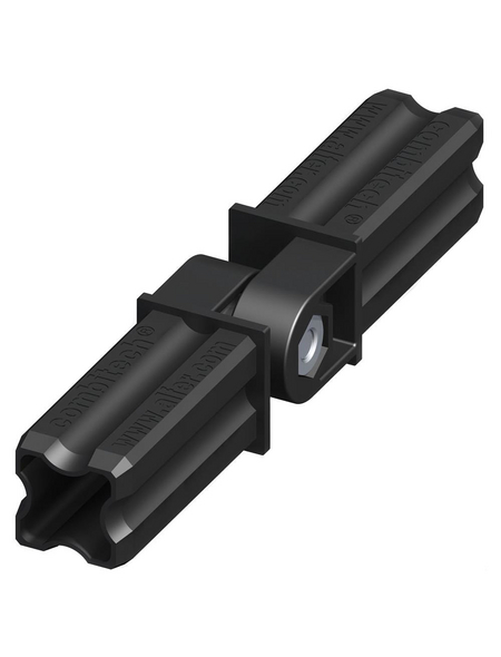 alfer® aluminium Gelenkverbinder, combitech®, Kunststoff, schwarz, 23,5 mm, 5 St.
