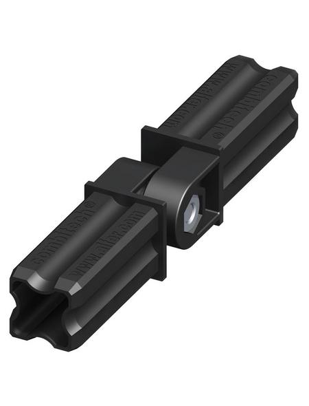 alfer® aluminium Gelenkverbinder, combitech®, Kunststoff, schwarz, 23,5mm, 5 St.