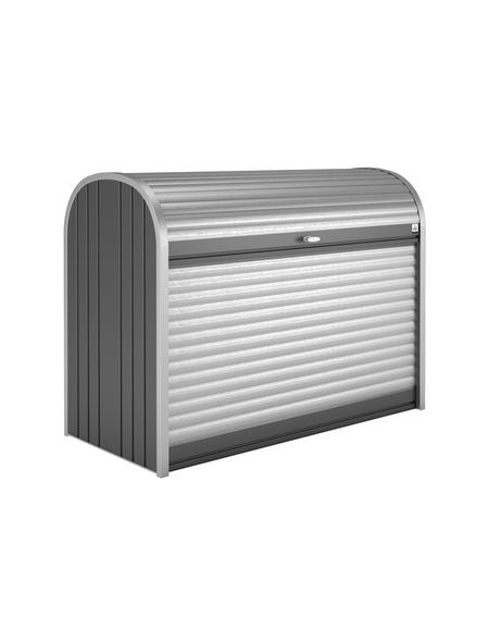 BIOHORT Gerätebox »StoreMax«, aus Aluminium und Stahlblech, 117x109x73cm (BxHxT), 740 Liter