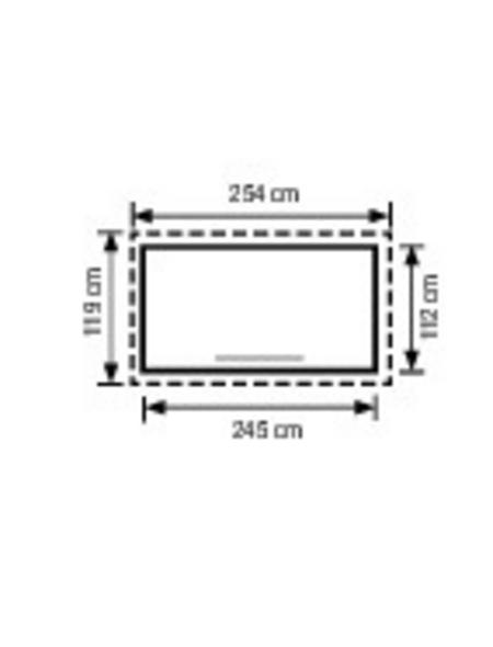 PERGART Gerätehaus 254 cm x 119 cm
