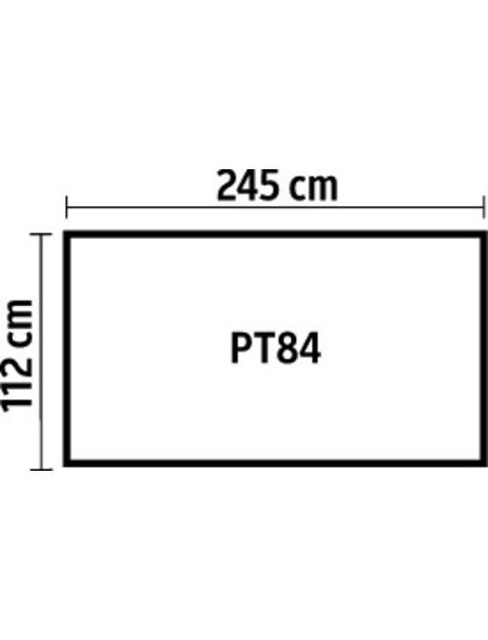 PERGART Gerätehaus, Außenmaße (BxT): 245 x112  cm