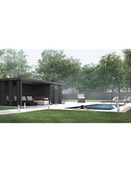 WOLFF FINNHAUS Gerätehaus »Eleganto 2424«, 15 m³, BxT: 522 x 238 cm mit Lounge
