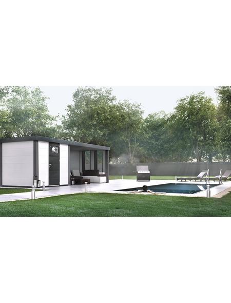 WOLFF FINNHAUS Gerätehaus »Eleganto 2424«, 27,6 m³, BxT: 522 x 238 cm mit Lounge