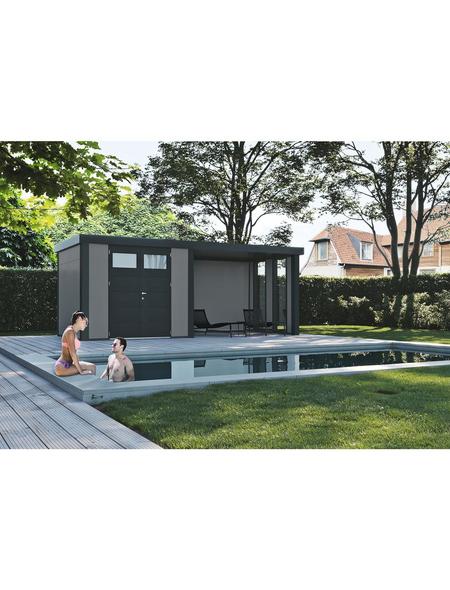WOLFF FINNHAUS Gerätehaus »Eleganto 3024«, Flachdach