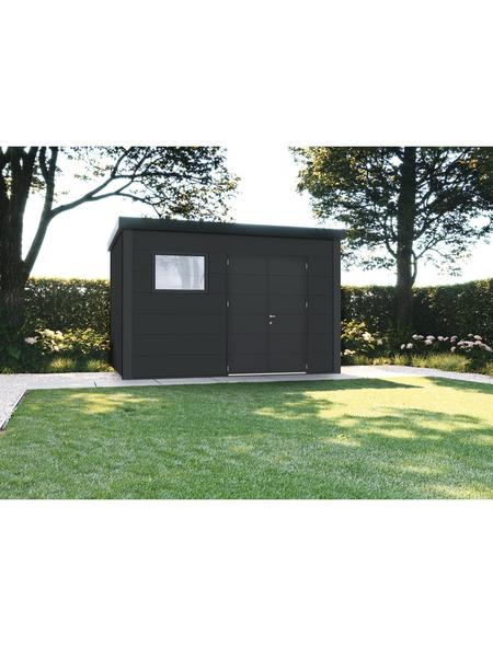 WOLFF FINNHAUS Gerätehaus »Eleganto 3930«, Flachdach