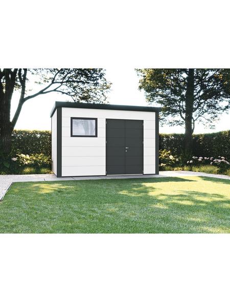 WOLFF FINNHAUS Gerätehaus »Eleganto 3932«, Außenmaße (BxT): 388 x298  cm