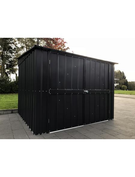 GLOBEL Gerätehaus »Family«, aus verzinktem Stahl, 211x165x200cm (BxHxT), 6.960 Liter