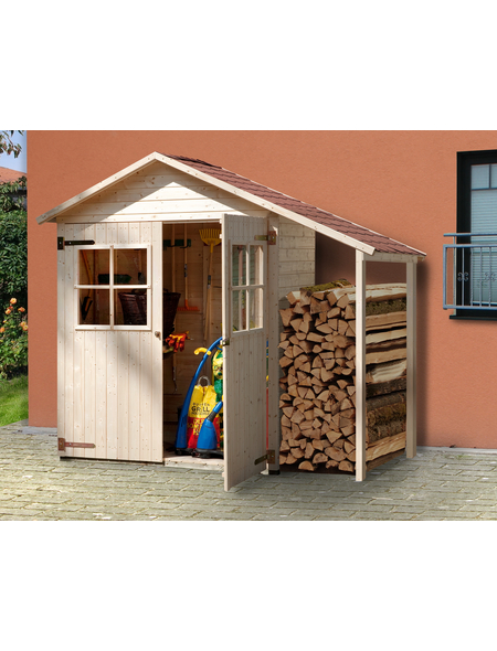 WEKA Gerätehaus »Garten-/Terrassenschrank 357 A Gr.2«, BxT: 270 x 105 cm, Satteldach