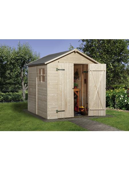 WEKA Gerätehaus »Gartenhaus 325 Gr.3«, BxT: 205 x 206 cm (Aufstellmaße), Satteldach