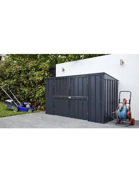 GLOBEL Gerätehaus »Globel«, aus verzinktem Stahl, 236x116x101cm (BxHxT), 720 Liter