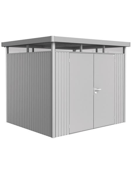 BIOHORT Gerätehaus »HighLine«, Außenmaße B x T x H: 275  x 235  x 222  cm