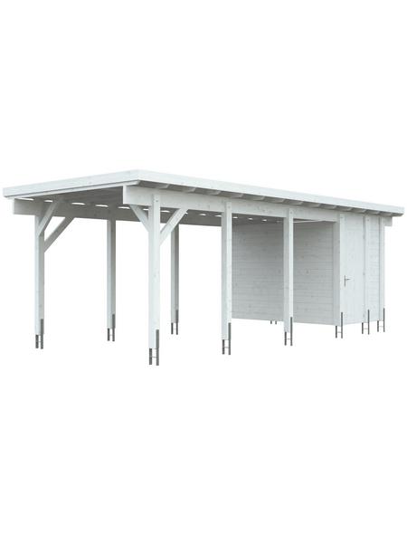KIEHN-HOLZ Geräteraum »KH 320«, für Carport KH 320 (Nr. 1032038), weiß