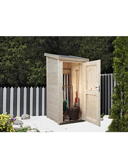 WOLFF FINNHAUS Geräteschrank »Premium Gartenschrank«, BxT: 90 x 103 cm (Aufstellmaße), Pultdach