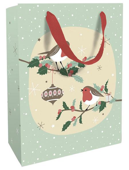 Geschenktasche Bird Romance, 25x33x11 cm, matt