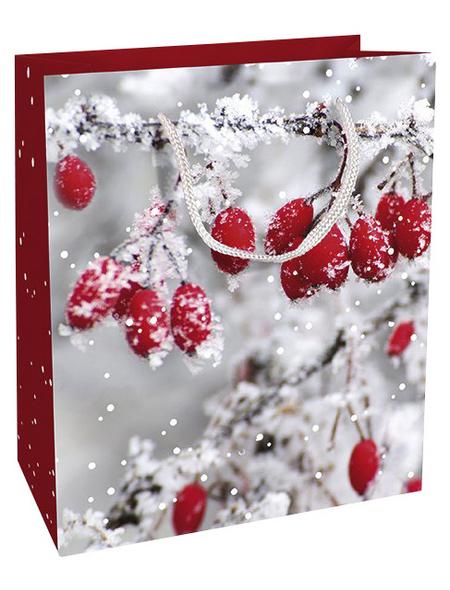Geschenktasche Frosted Berries, 18x21x8 cm, glänzend