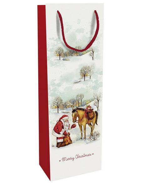 Geschenktasche Zauber der Weihnacht, 12x37x8 cm, glänzend