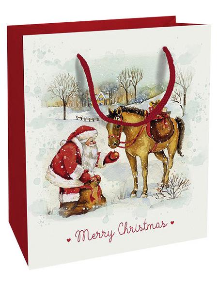 Geschenktasche Zauber der Weihnacht, 18x21x8 cm, glänzend