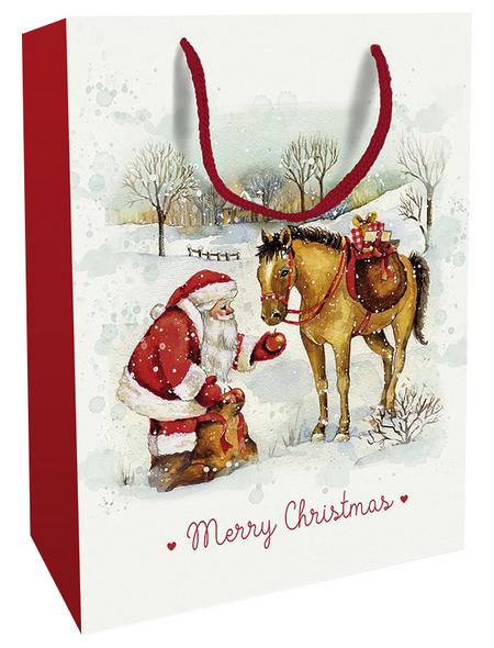 Geschenktasche Zauber der Weihnacht, 25x33x11 cm, glänzend