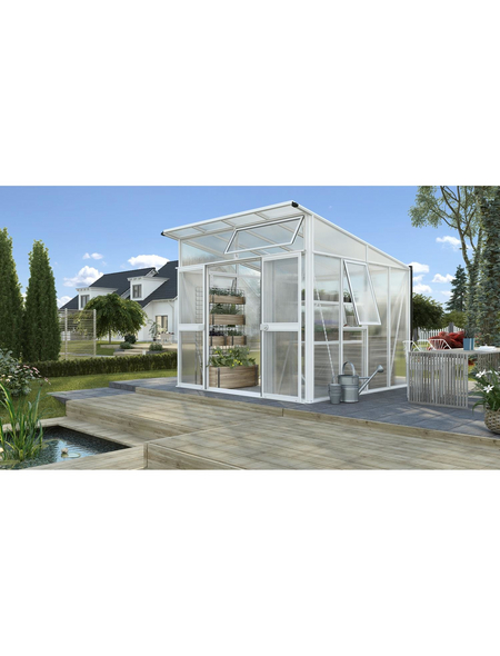 VITAVIA Gewächshaus »Aura«, B x L x H: 267  x 295  x 242,3  cm, Aluminium/Polycarbonat (PC)