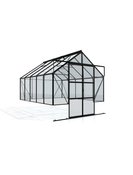 VITAVIA Gewächshaus »Cassandra«, 8,3 m², Aluminium/ESG Glas, winterfest